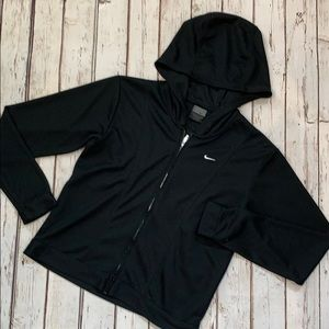 Women's Nike dryfit zipup size XS black no flaws